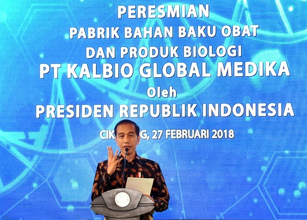 Kalbe Inaugurated Drugs Ingredients and Biological Products Factory