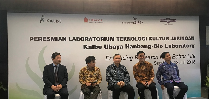 Kalbe Joined University of Surabaya Inaugurated Tissue Culture Laboratory