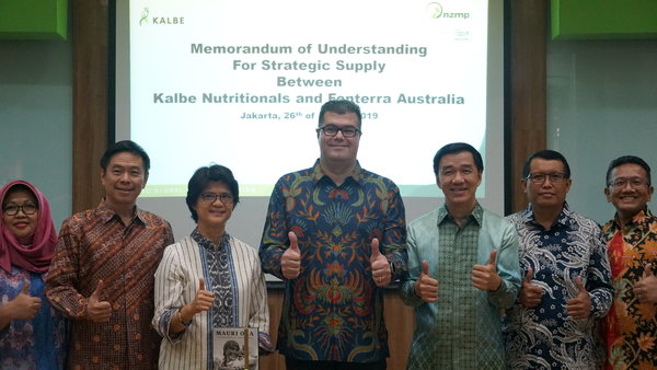 Kalbe Group Signs A Memorandum Of Understanding With Fonterra Australia For Provision Of Raw Milk Materials