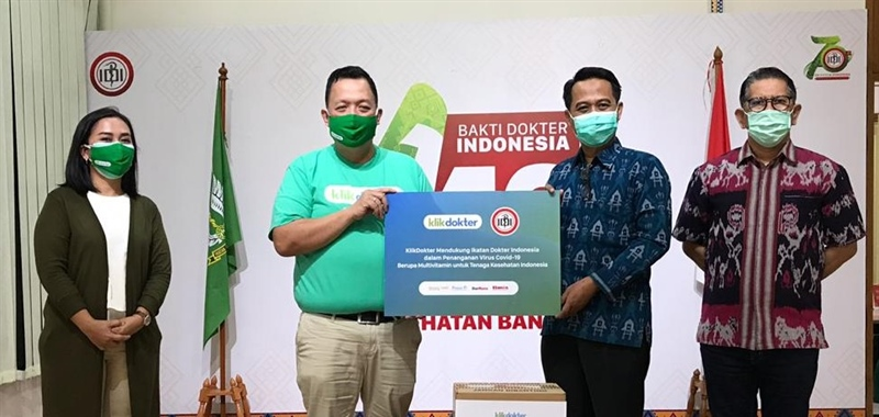 Klikdokter Supports Indonesian Doctors Association (IDI) in COVID-19 Handling