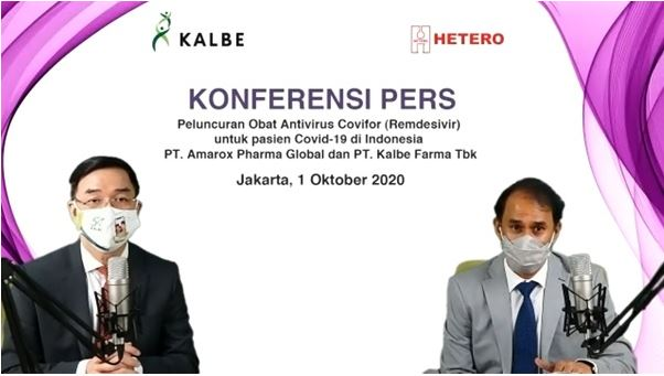 Indian Pharmaceutical major Hetero's subsidiary 'PT. Amarox Pharma Global', in collaboration with Kalbe, becomes the 1st company to launch Covifor (Remdesivir) in Indonesia